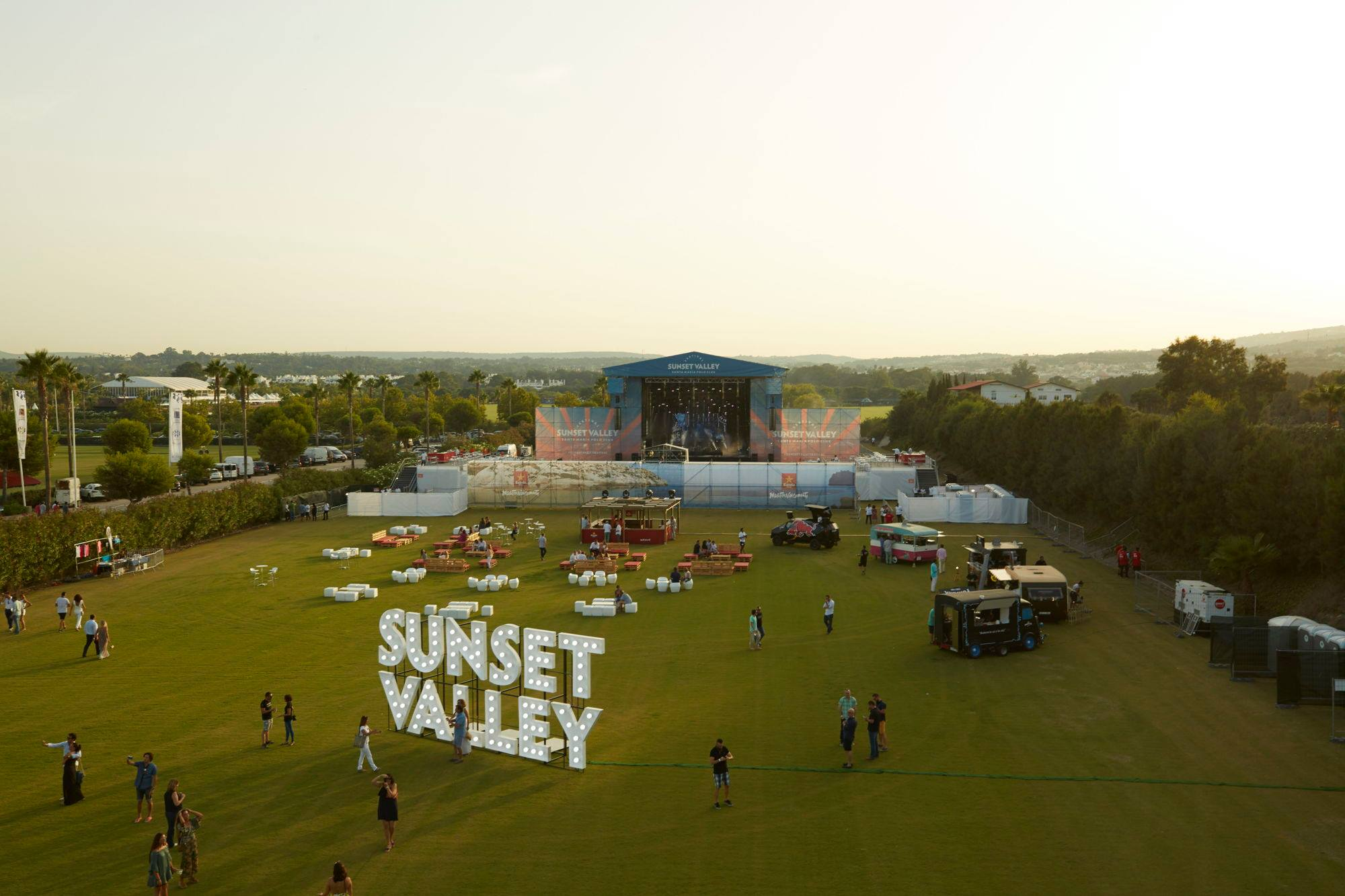 Flower Party at Sunset Valley Festival in Sotogrande Summer 2018